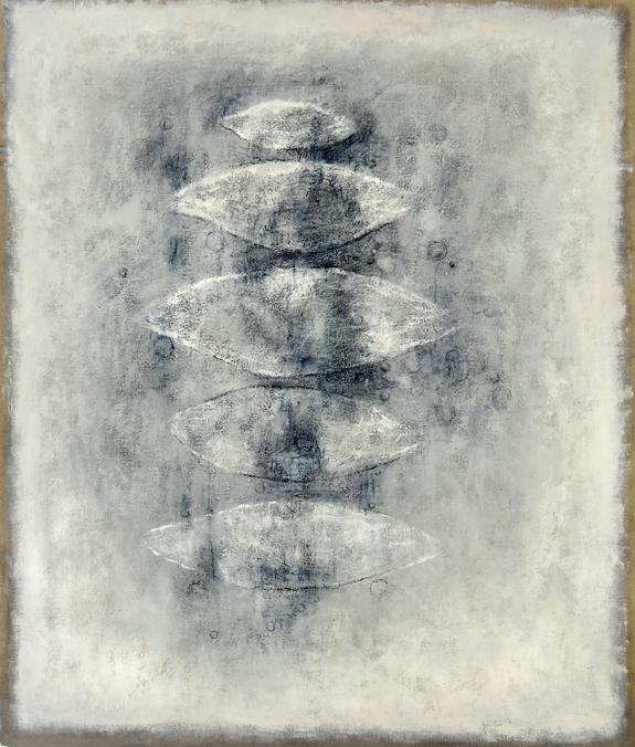 white stones - 140x118 - acryl