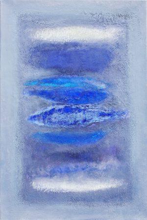 blauw - 105x70 - olieverf