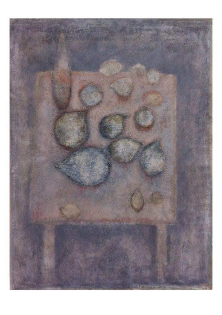 tafel met vruchten - 158x120 - acryl